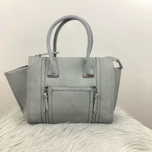 FOREVER 21 GRAY TRAPEZE PURSE